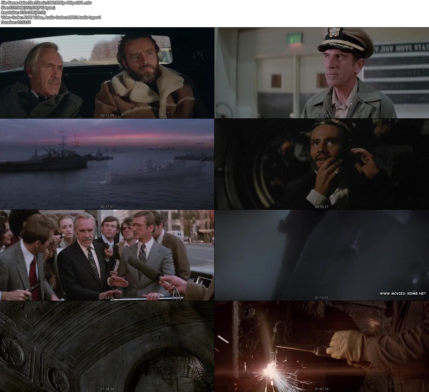Raise The Titanic 1980 BRRip 480p 300MB x264 Screenshot