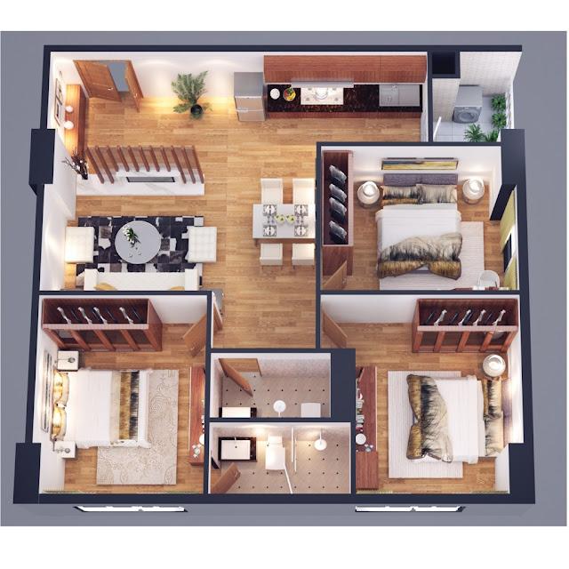 Thiết kế căn hộ 89m Athena Complex