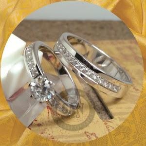 cincin emasputih paladium P5834