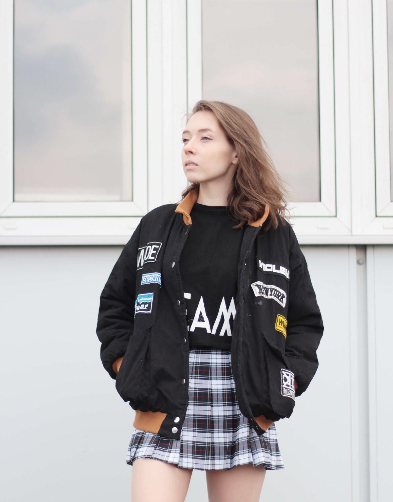 style inspiration bomber jacket uk fashion blogger