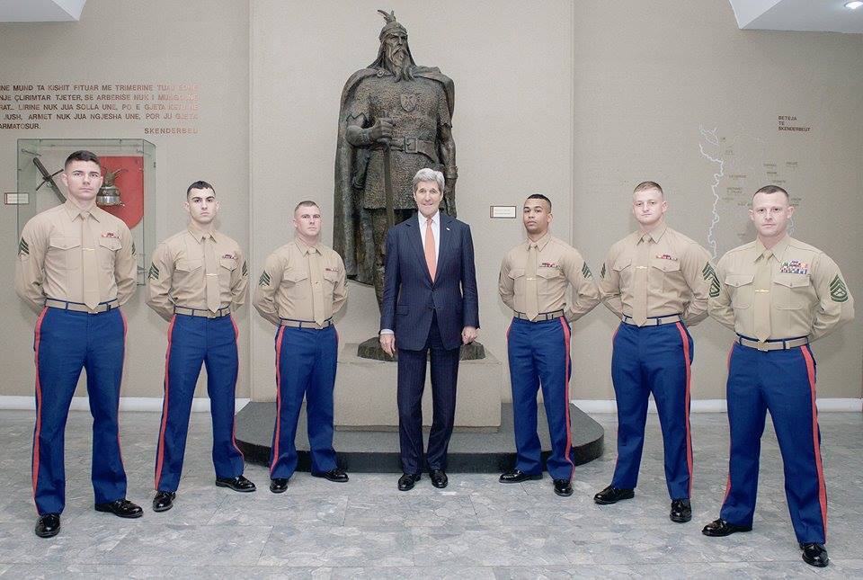The Illyrians Secretary of State John Kerry poses with the US