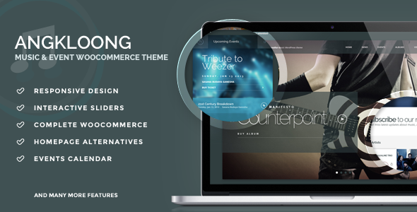 Events & Music WordPress Theme