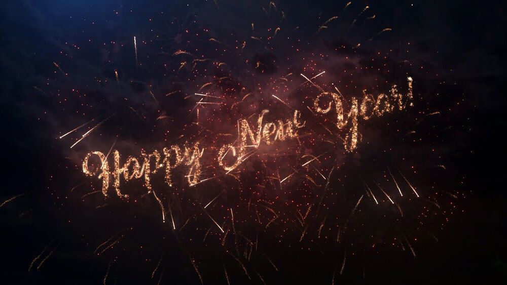 2020, Happy New Year, Firework