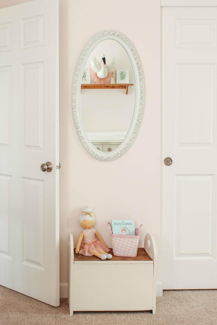 vintage mirror nursery