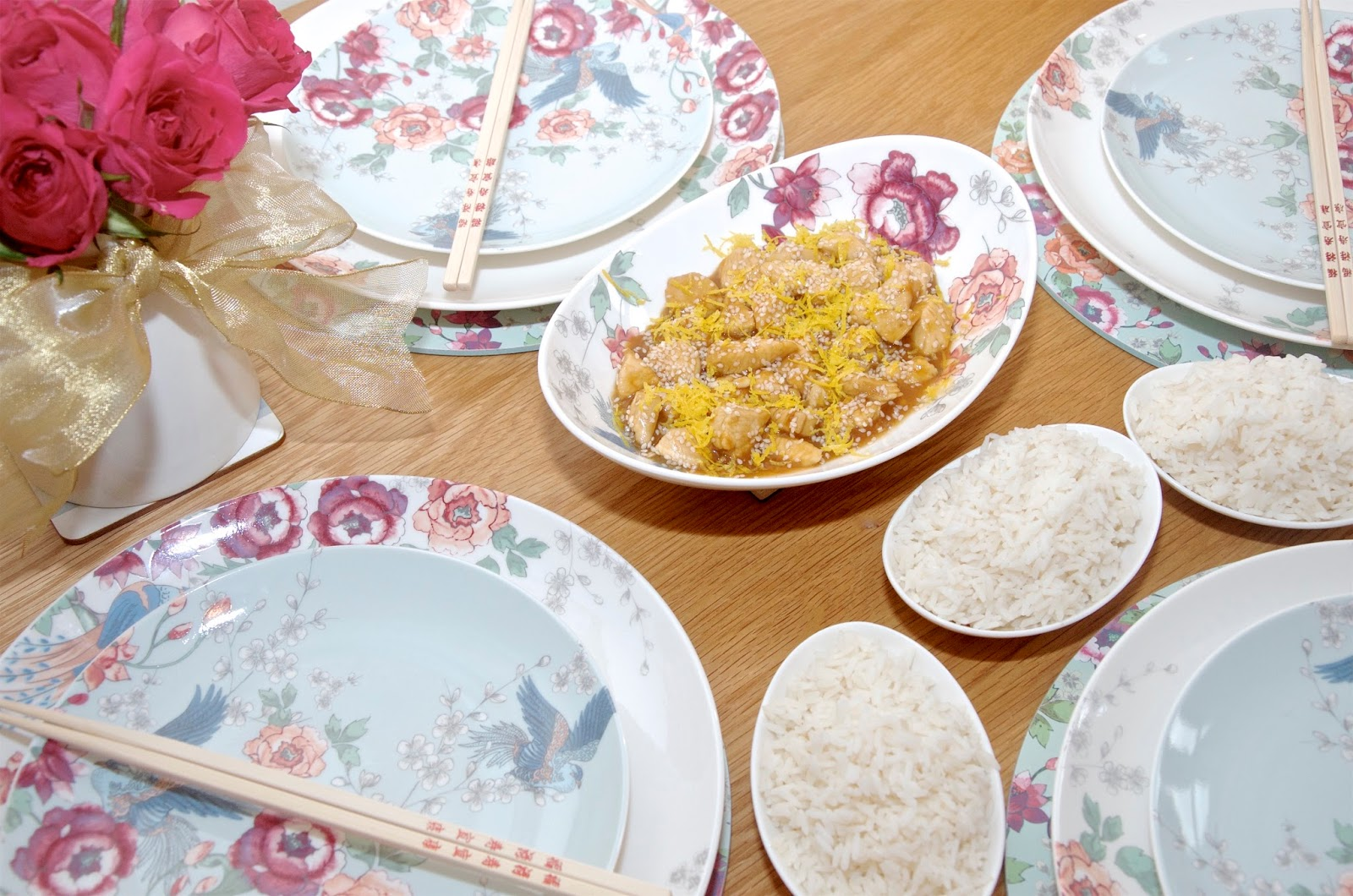 Monsoon x Denby Kyoto with asian style lemon chicken recipe