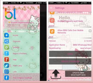 BBM Mod Hello Kitty APK v3.2.5.12 Terbaru 2017