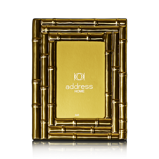 7747_Bamboo Gold Ceramic Photo Frame-rs 1690