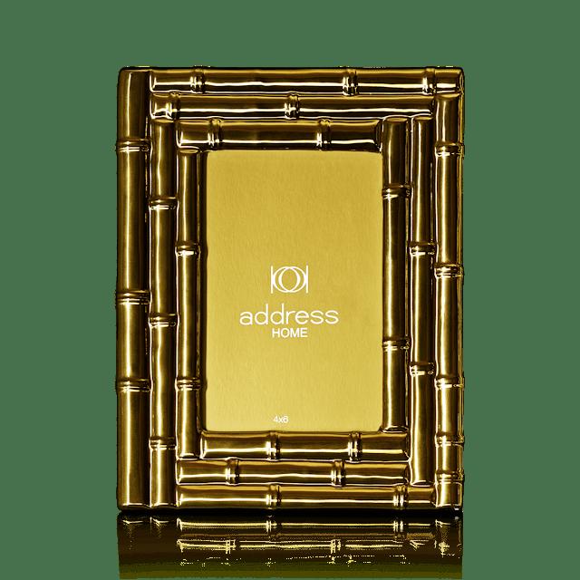 7747_Bamboo Gold Ceramic Photo Frame-rs 1690