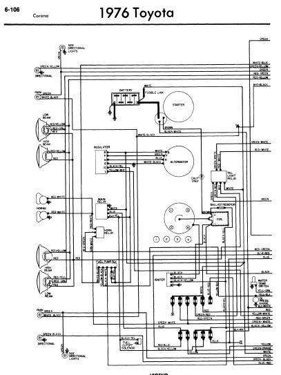 repairmanuals: Toyota Corona 1976 Wiring Diagrams