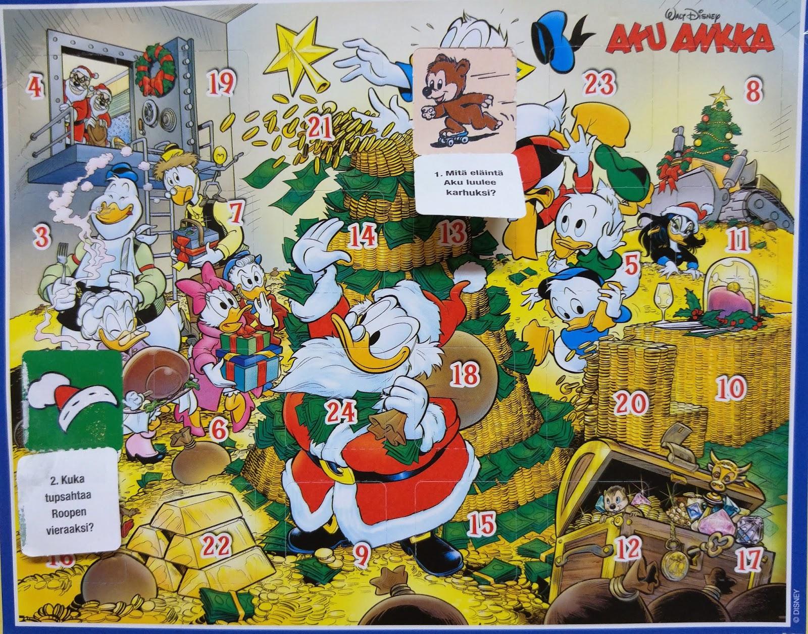 aku ankka joulukalenteri Joulu Mimmin luona: Joulukalenterit 2015 aku ankka joulukalenteri