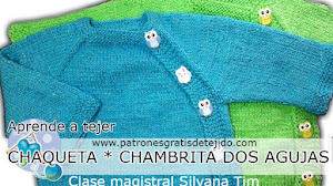 Chaqueta para bebés dos agujas / Tutorial