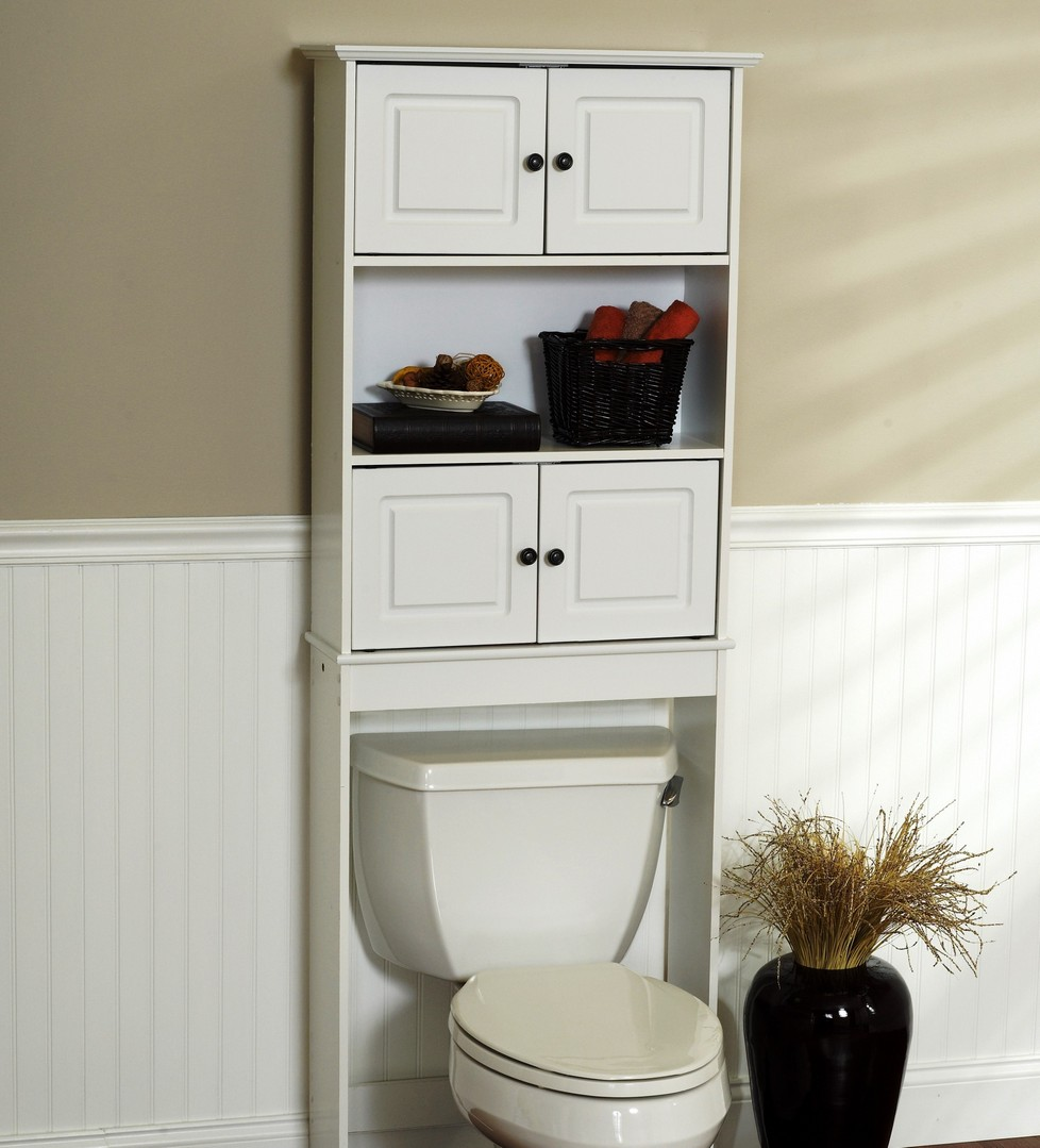 over the tank bathroom space saver cabinet