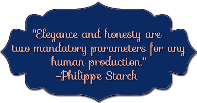 Philippe Starck quote - Elegance and honesty / L-vi.com