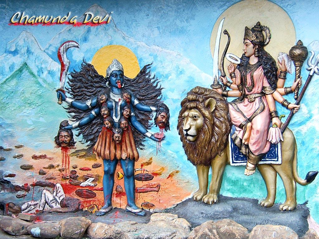 Chamunda Devi Hindu God Wallpapers Free Download