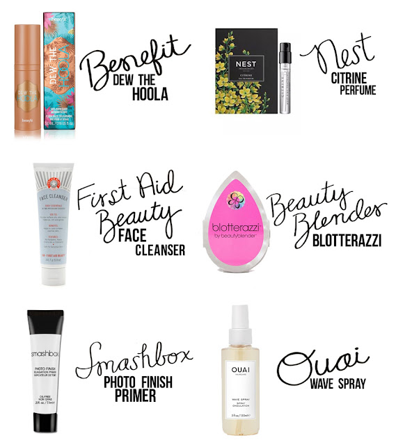 Benefit Bronzer, First Aid Beauty Facial Cleanser, Nest Fragrance, Blotterazzi, Ouai Wave Spray, Smashbox Photofinsh Primer, College Blogger, Beauty Blogger, Lifestyle Blogger