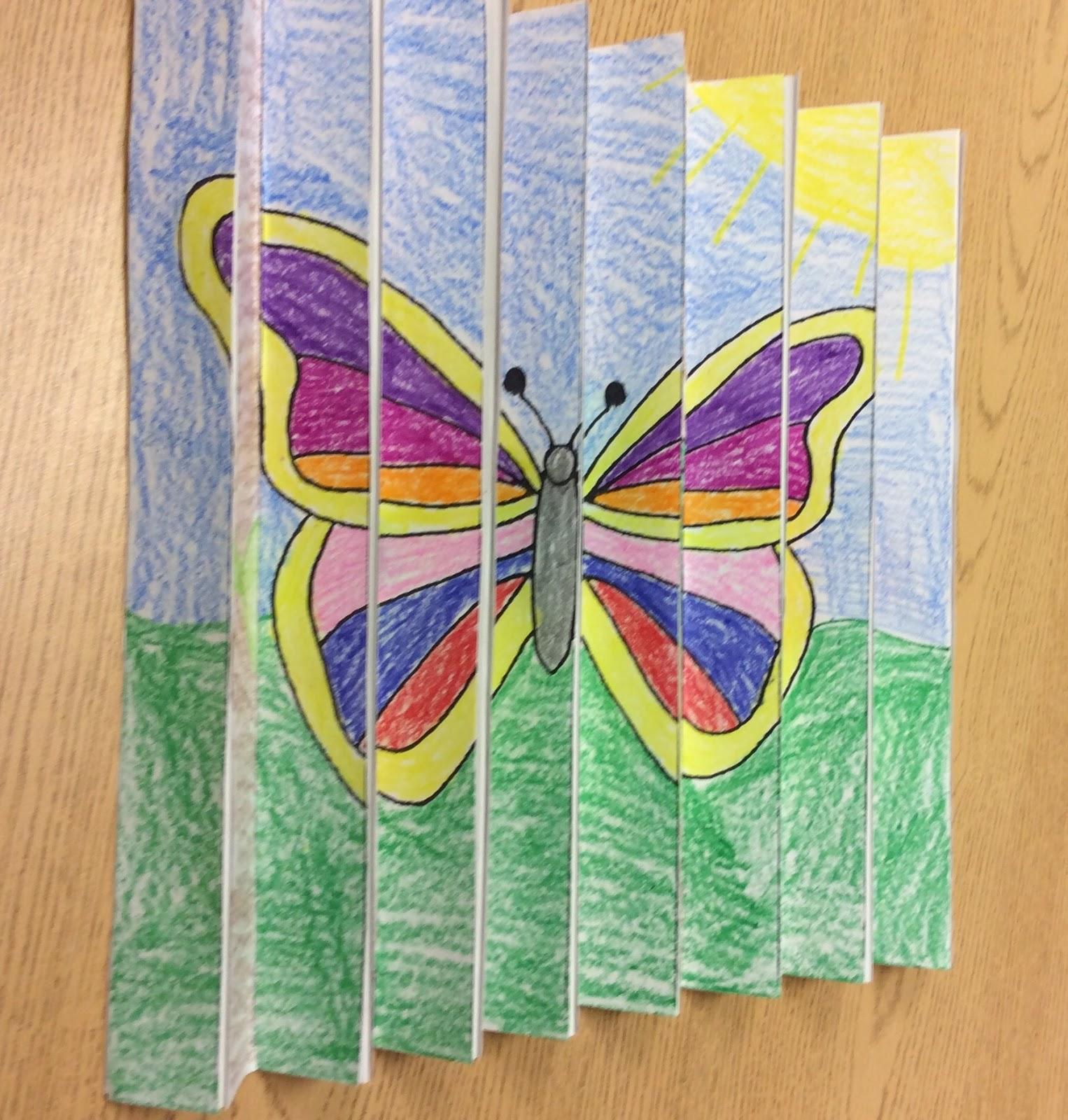 Butterfly Op Art