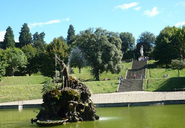 Obras do Jardins de Boboli em Florença