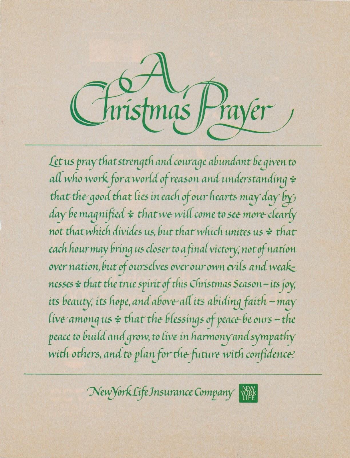 Jeanyee Wong A Christmas Prayer