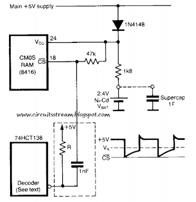 Build a Stand by Power Circuit Diagram for Non Volatile Cmos Rams Circuit diagram