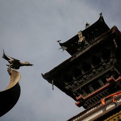 Pagoda en templo de Katmandú