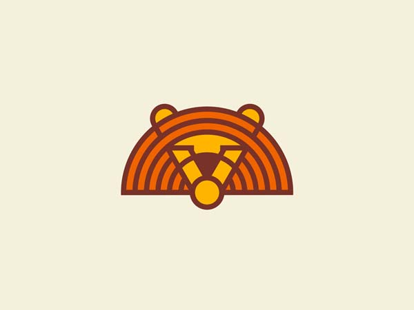 Inspirasi Desain Logo Monoline 2017 - King Circle Monoline Logo