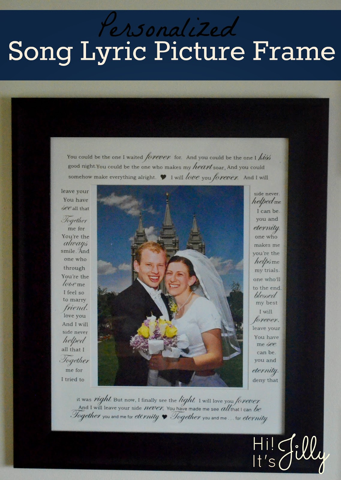 Hi Its Jilly Personalized Song Lyric Picture Frame