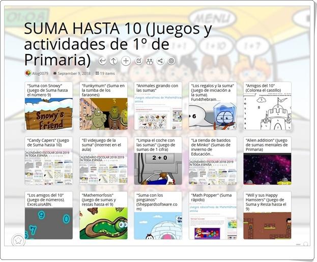 """""""19 Juegos y actividades para la práctica de la SUMA HASTA 10 en 1º de Primaria"""""""