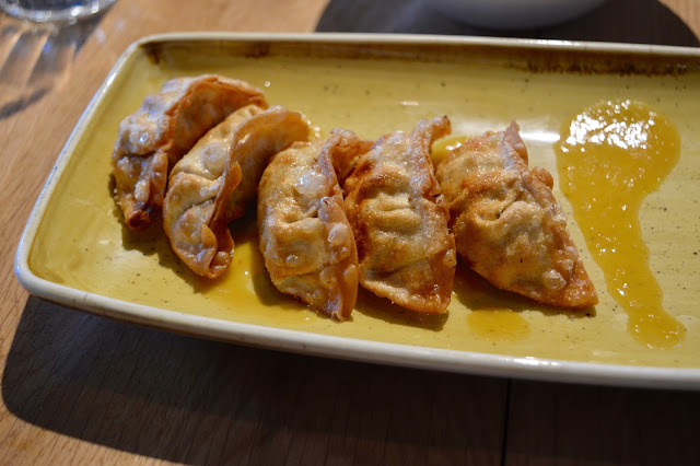 Chicken Yaki Gyozas at Giraffe