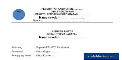 Contoh Berkas Administrasi Sertijab Kepala Sekolah Lengkap