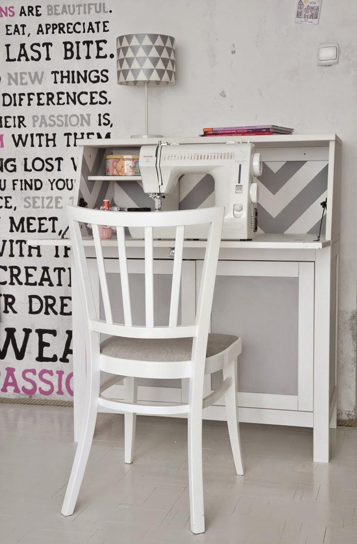 chevron and chalkboard on hemnes bureau ikea hackers ikea hackers. Black Bedroom Furniture Sets. Home Design Ideas