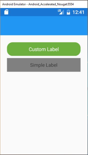 Xamarin.Forms Custom Label
