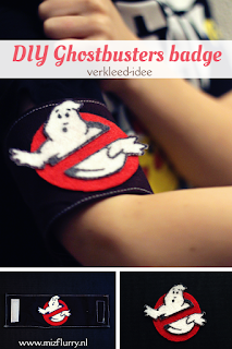 DIY Ghostbusters arm badge