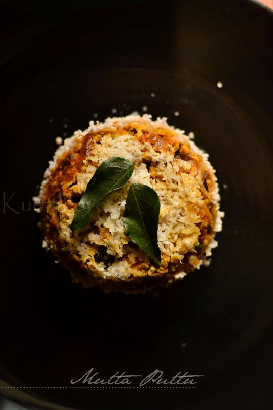Mutta Puttu Egg Puttu Steamed Rice Flour Cake With Egg