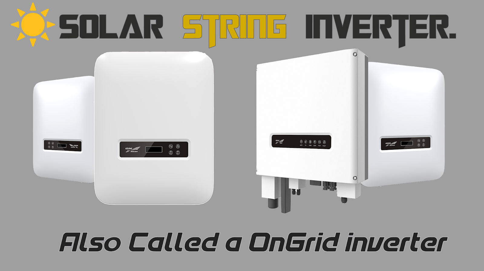What are the various types of solar inverters?