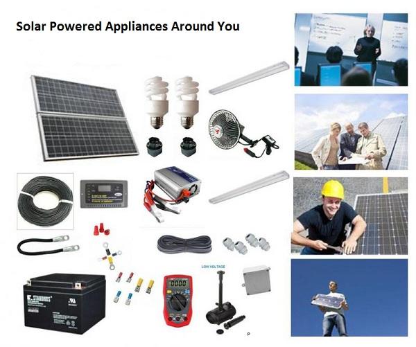solar energy powered appliances around you