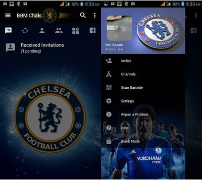 BBM MOD Transparan Chelsea v3.2.0.6 Apk Change Background Terbaru 2016