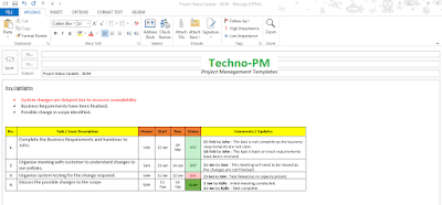 simple task management email update