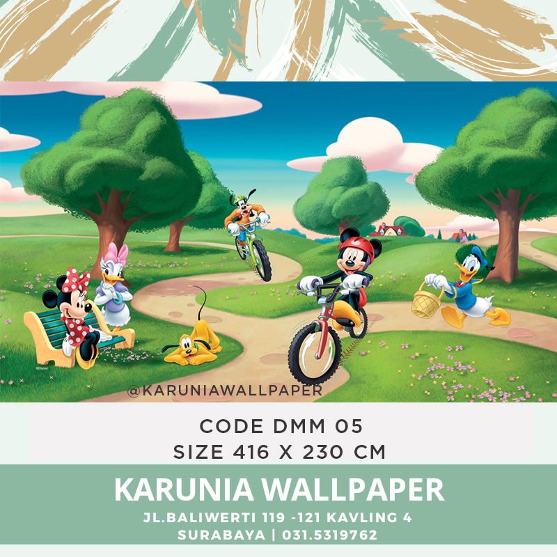 jual wallpaper dinding mickey mouse