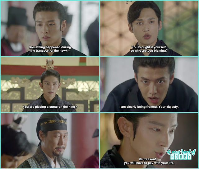 king wang so accuse wook for treason and punish him  - Moon Lovers Scarlet Heart Ryeo - Episode 19