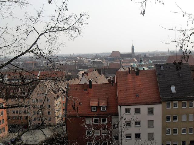 vistas desde el castillo de Núremberg