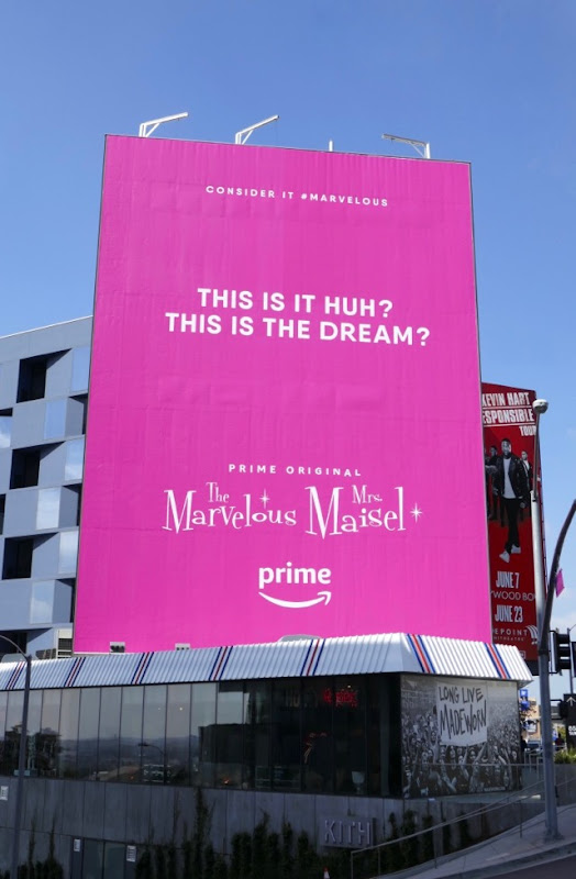 This is the dream Marvelous Mrs Maisel Emmy FYC billboard