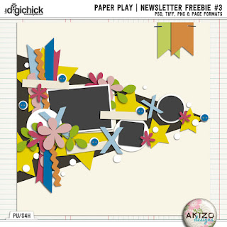 Paper Play News Letter Freebie 3 by Akizo Designs