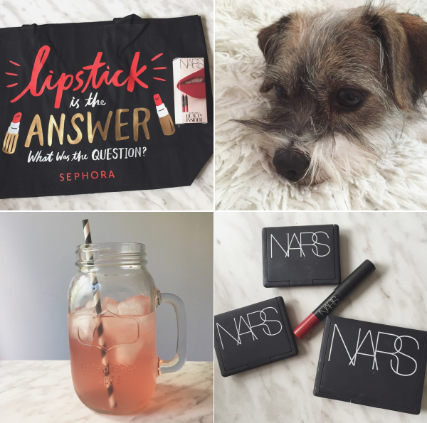 instagram instamonth bbloggers bbloggersca makeup dog watermelon juice nars sephora birthday