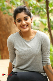 Actress Niveda Thomas Pictures in Black Jeans at Gentleman Movie Interview  0092