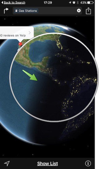 iPhone Apple Maps – World Times