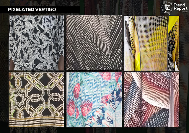 Premiere Vision Paris, premiere vision, pixelated print, trade show, premiere vision designs, trend forecast, fashion trend, autumn/winter 2018, textile design, print design, textiles trend, future trend, textile candy, fashion print, pattern, trend report, pv, aw18