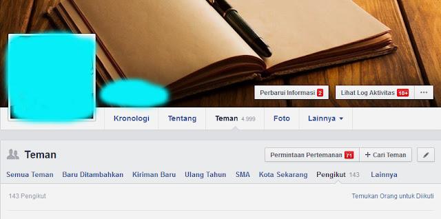 Cara Mengetahui Siapa Saja yang Mengikuti Kita di Facebook