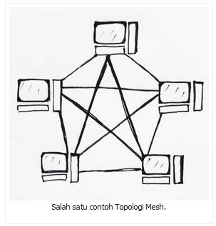 Salah satu contoh Topologi Mesh.
