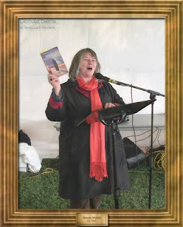 Writer Brenda Niskala, at the Cathedral Village Arts Festival 2011