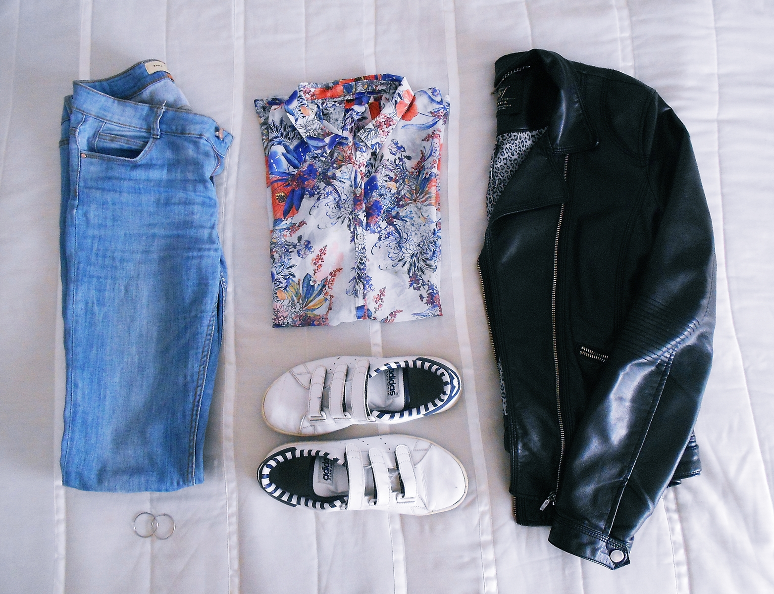 set | wearing flowers for spring